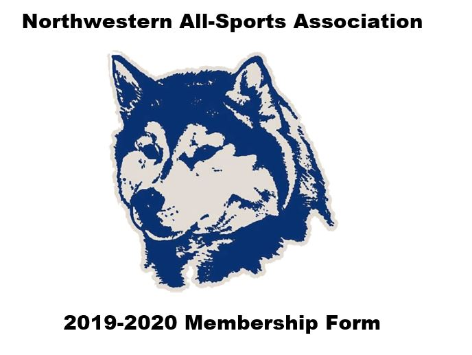 Northwestern All-Sports Association Membership Form