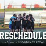 Soccer Reschedule Date