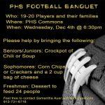 PHS Football Banquet