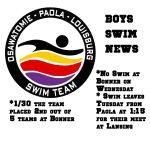 Boys Swim News