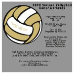 PHS Summer Volleyball Camp Registration Due 4/30/20