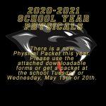 2020-2021 School Year Physicals