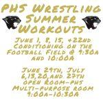 Updated Summer Wrestling Schedule