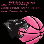 Updated PHS Girls Basketball Summer Schedule