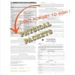 Physical Packets – Don't forget the signatures!!