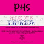 Picture Day is Tomorrow – Tuesday, August 25th