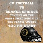 JV Football vs Bonner Springs – PHS Freshman Field – 4:30pm
