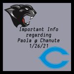1/26/21 Basketball @ Chanute – Important Update