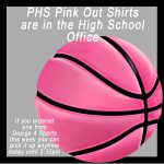 Pink Out Shirts are in the PHS Office