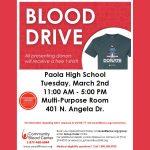 PHS Spring Blood Drive 3/2/21
