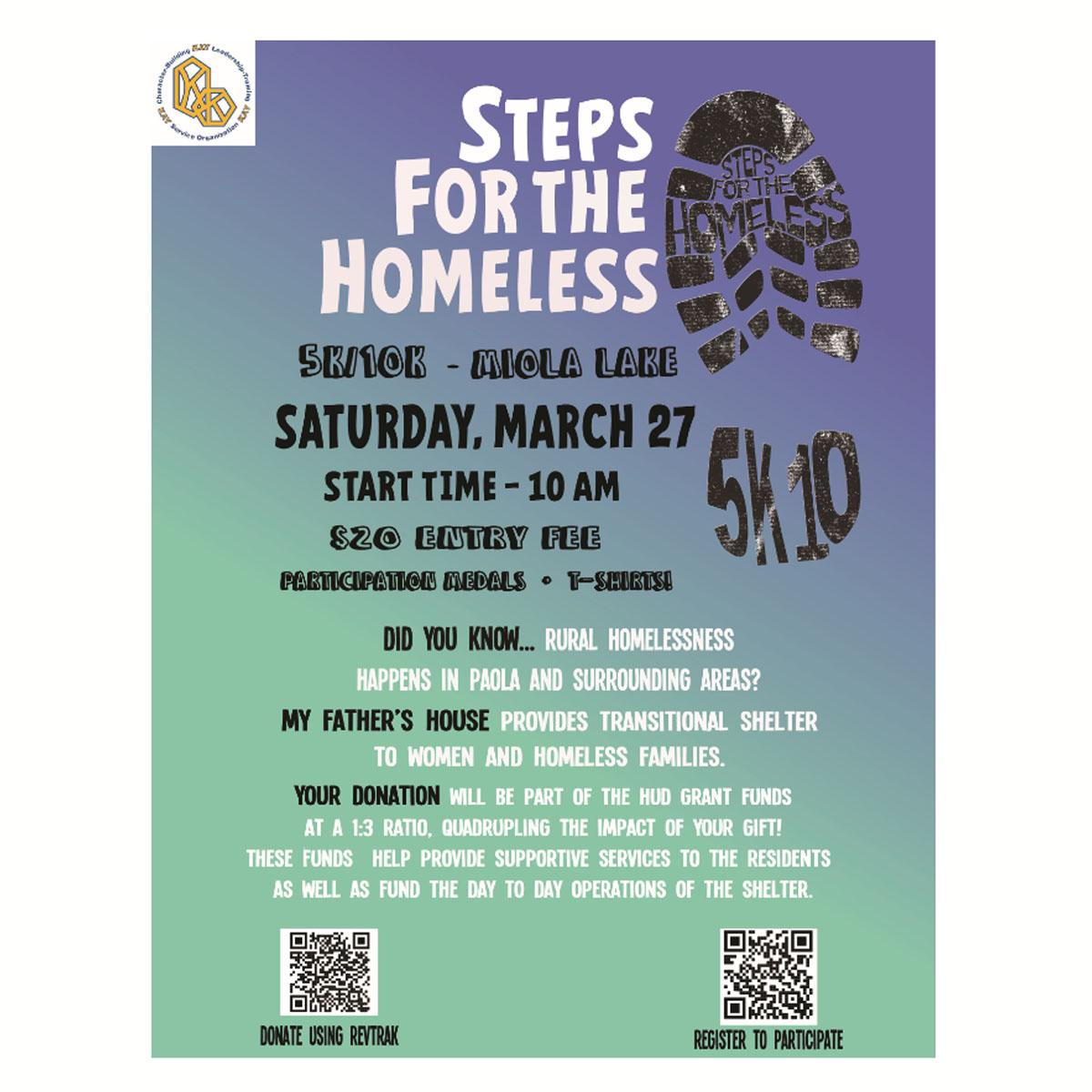 Steps for the Homeless 5K/10K