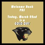 Welcome Back to School! Today is a Gold Day