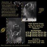 PHS Football Summer Schedule