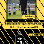 Good Luck Savannah Soccer at Lutheran!