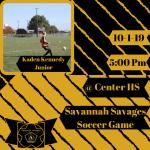 Savage Kick Off Against Center HS