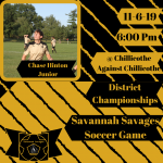 Savage Soccer Battle for the District Championship