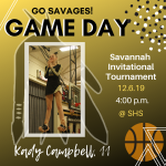 Come Support Savage Basketball and Cheerleaders! Game is at 6!