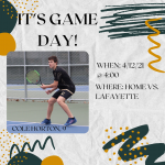 Good Luck Tennis Boys!