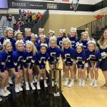 Varsity Competitive Cheer finishes in 1st place at Get on Track cheer competition