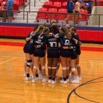 Girl's Varsity Volleyball team beats Brazosport in three straight sets.