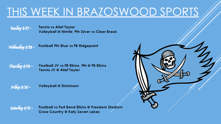 This Week In Brazoswood Sports August 26-31