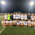 Brazoswood Lady Bucs JV Blue & Varsity soccer teams defeat Pearland Dawson on the road.