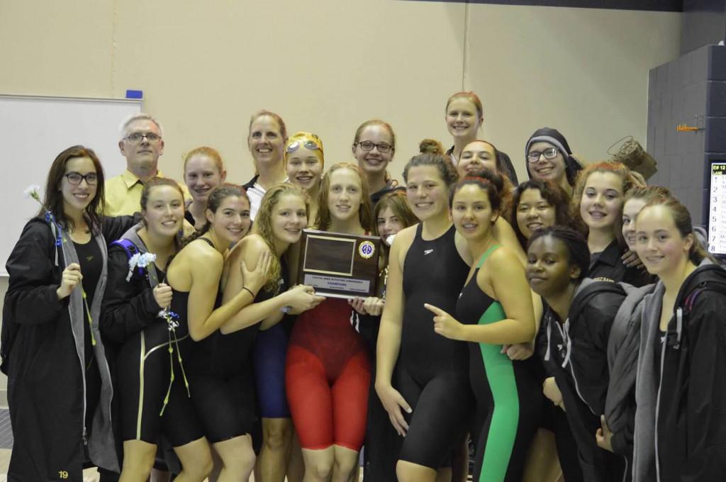 Girls Swim & Dive Finish Regular Season Undefeated and CAAC Co-Champions