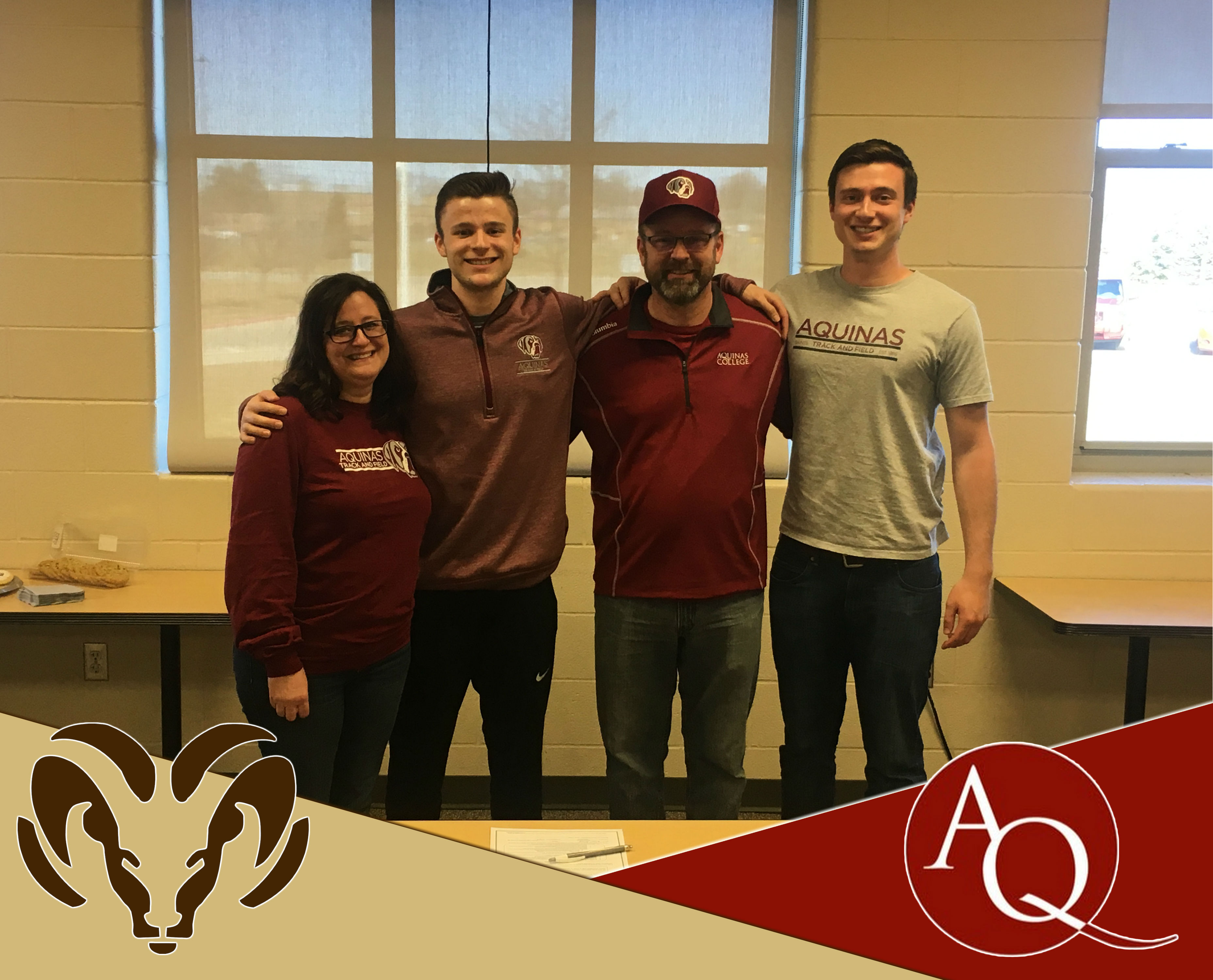 Brian Stump signs with Aquinas College for Track & Field