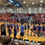 Girls Varsity Volleyball falls to St. James Academy 2 – 0