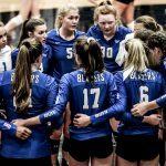 Girls Varsity Volleyball beats Bishop Miege (25-21, 25-22)