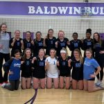 Varsity Volleyball wins the Baldwin Invitation, defeating #5 in 5A Bonner Springs 25-23, 25-14