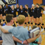 Girls Varsity Volleyball beats Shawnee Mission South 25-20, 22-25, 25-16