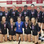 JV Volleyball falls to Ottawa 25-20 , 15-25, 11-15 at the Ottawa Invitational