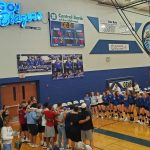Varsity Volleyball falls to Washburn Rural 28-26, 16-25, 24-26 at the Washburn Rural Invitational
