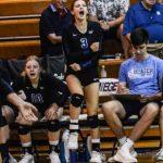 Girls Varsity Volleyball falls to Blue Valley 25-23, 23-25, 28-30