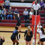 Varsity Volleyball beats Maize 25-14, 25-16 at the WR Invitational