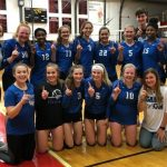 Varsity Volleyball wins Sunflower League, beats Lawrence 25-22, 25-9, 26-24
