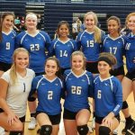 Freshman A Volleyball beats Lawrence 25-9, 25-11, finishes league play undefeated!