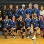 Freshman A Volleyball beat Olathe West 25-18, 25-14 to win the Sunflower League Tournament
