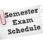 Semester Exam Schedule for This Week
