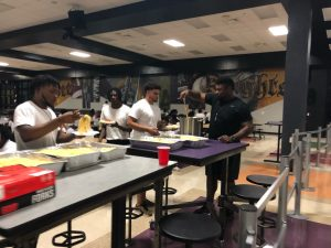 Football Camp Tuesday Knight Meal