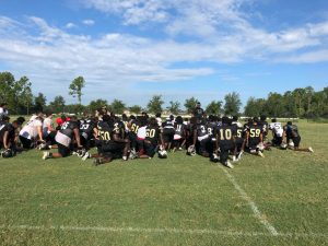Football Camp Thu practice and Team Movie