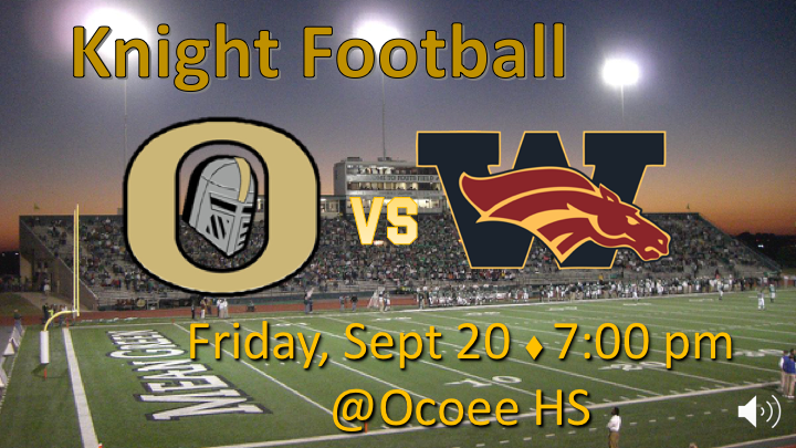 Homecoming game this Friday Knight!