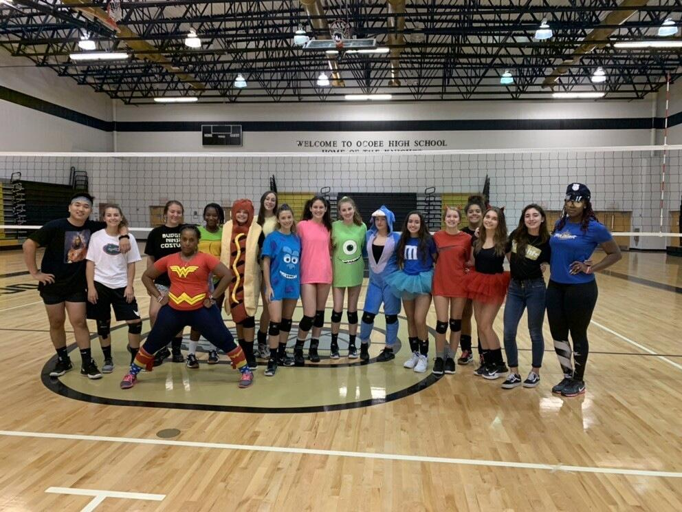Volleyball preps for districts!