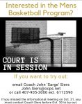 Boys Basketball Tryout Info