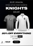 Knights Flash Sale 20% Off Everything!