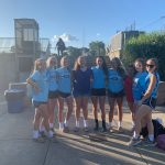 Lady Crusader Volleyball team starting a movement