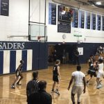 Boys Varsity Hoops Falls to QV in Home Opener
