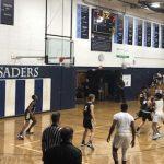Boys Varsity Hoops Falls to QV in Home Opener