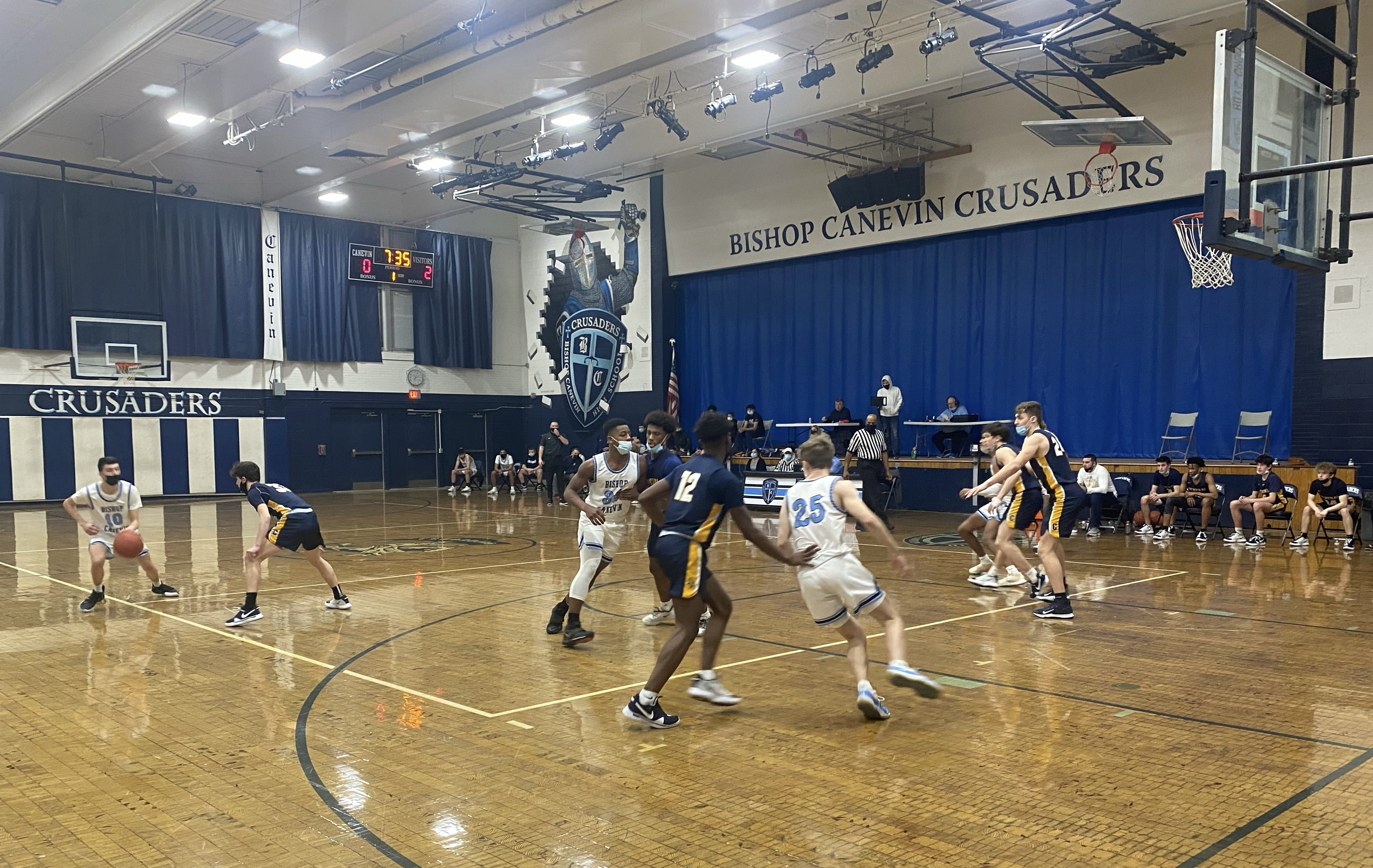 Boys Varsity Basketball routs Pittsburgh Central Catholic